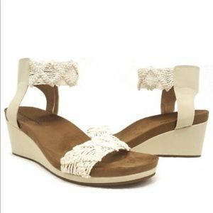 Lucky Lace Wedge Sandals